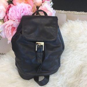 Vintage DKNY leather backpack