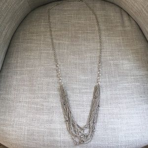 Jewelry - Long silver strand necklace