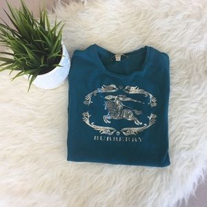 SALE! Burberry teal tshirt