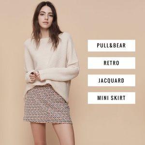 Pull&Bear Dresses & Skirts - Pull&Bear • Retro Jacquard Mini Skirt