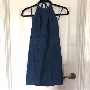 Hollister Dresses | Halter Jean Dress | Poshmark