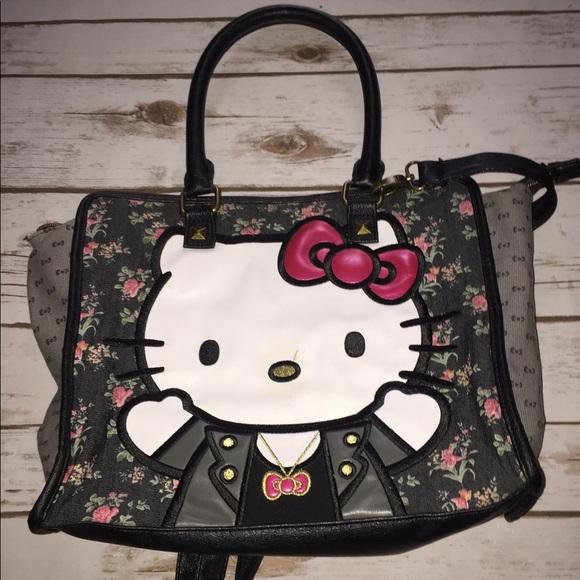 50% Off Hello Kitty Handbags - Hello Kitty Denim/floral Crossbody By Loungefly From Dahliau0026#39;s ...