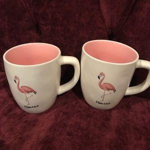 Rae Dunn Accessories - Set of 2 Rae Dunn Flamingo mugs