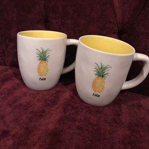 Rae Dunn Accessories - Set of 2 Pina Rae Dunn mugs.