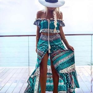 Dresses & Skirts - 🆕Clair Boho Floral Paisley Crop Top & Maxi Skirt