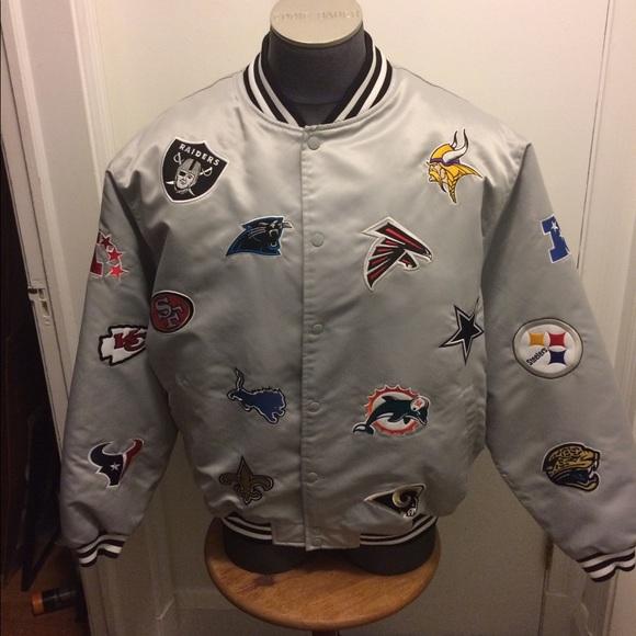 super popular 0ac55 b834f Reebok NFL Patch Jacket..