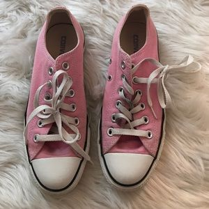 Pink all star converse size women's 7