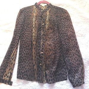NWOT Michael Kors Cheetah blouse