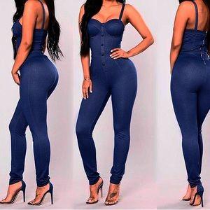 Pants - Everything Jumpsuit dark indigo zipper back
