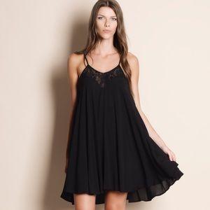 Strappy Lace Mini Dress