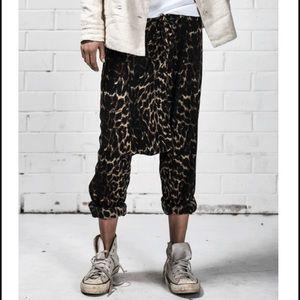 One Teaspoon leopard Harem pants sz L