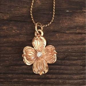 James Avery Jewelry - James Avery 14K Gold Dogwood Charm w/ Diamond