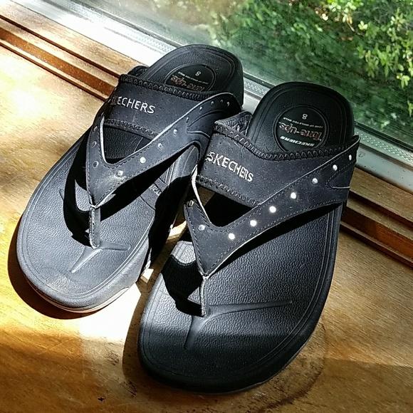 58 Off Skechers Shoes - Skechers Tone Up Flip Flops Size -6782