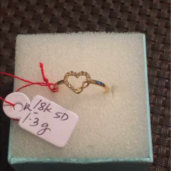 jewelry sale brand new 18k saudi gold heart ring design poshmark
