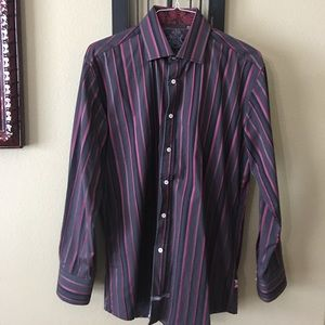 English Laundry Other - English Laundry gray pink striped button down.