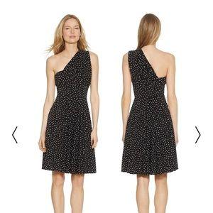 07535380d81 White House Black Market Dresses - GENIUS CONVERTIBLE FIT   FLARE POLKA DOT  DRESS 12