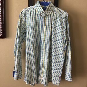 English Laundry Other - English Laundry yellow & blue plaid button down