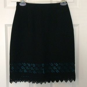 Black & Blue Skirt Michele Brand Size 2 Petite