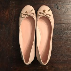 Kate Spade Nude Ballet Flats, size 9
