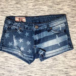 1st Kiss Pants - American Flag Jean Shorts Delia's
