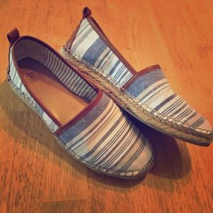 Bass Shoes - Bass espadrille slip on striped loafer