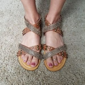 Not Rated Shoes - Not Rated Bling strappy studded sandals size 7.5