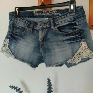 Vanilla Star Pants - *Lace jean shorts*