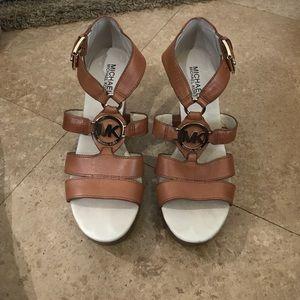 KORS Michael Kors Shoes - Michael Kors Leather Wedge