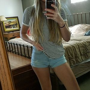 Forever 21 Tops - Black and White Striped T-shirt