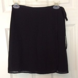 The Limited Wrap Black Skirt Size 6