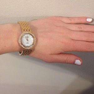 Armitron Accessories - Rose Gold Swarovski Crystal Watch