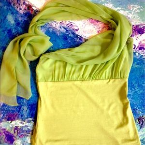 BLOOMINGDALES Strapless Silk Chiffon Top