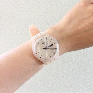 Swatch Accessories - New Gent Rose Rebel Soft Silicone Strap Watch