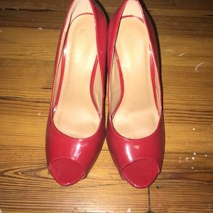 Journee Collection Shoes - Bright red heels