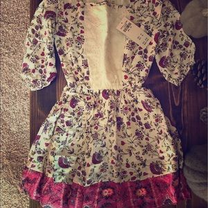 NWT Abercrombie & Fitch Floral Dress Girls 3/4