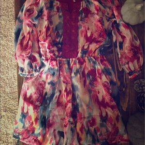 NWT Abercrombie Floral Butterfly Dress Girls 3/4