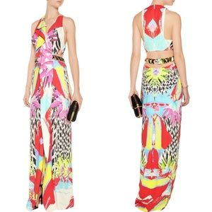 Just Cavalli Dresses & Skirts - Just Cavalli Multicolor Crepe Gown Maxi Dress