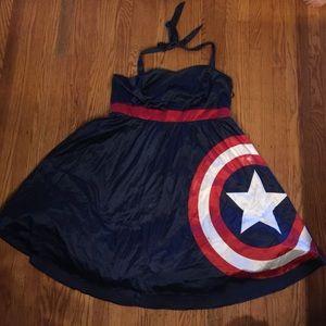 Marvel Dresses & Skirts - Marvel Captain America halter dress size 20