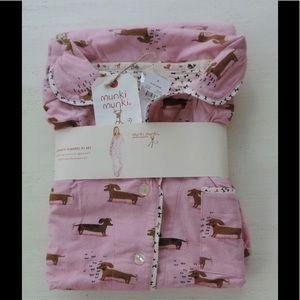 Munki Munki Other - NWT MUNKI MUNKI Large 2 Pc Pajamas Dog DACHSHUND