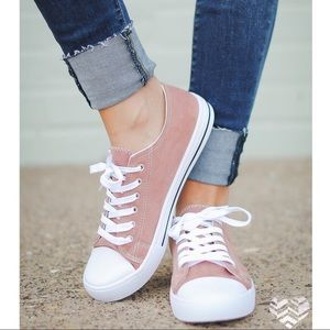 SERA lace up sneakers - MAUVE