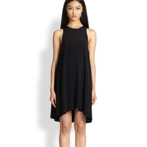T by Alexander Wang Dresses & Skirts - T by Alexander Wang Leather-trimmed Trapeze Dress