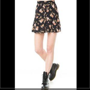 Brandy Melville Dresses & Skirts - Brandy Melville Button Front Floral Skirt