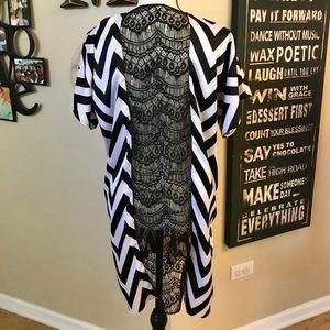 Tops - Chevron/lace Kimono