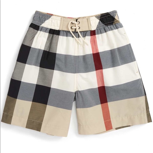 365fe7deb9be9 Boys Burberry nova check swim shorts
