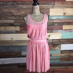 LC Lauren Conrad Dresses & Skirts - LC Lauren Conrad Pale Pink Polkadot Dress Medium
