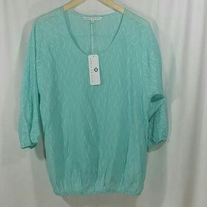 Annie Griffin Tops - NWT Annie Griffin Lucia Blouse in Blue Grotto SzM