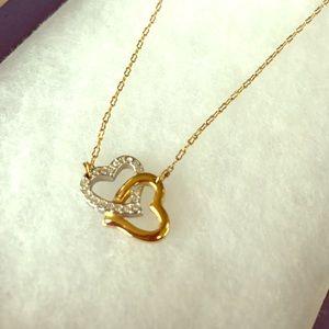Swarovski gold and silver hearts