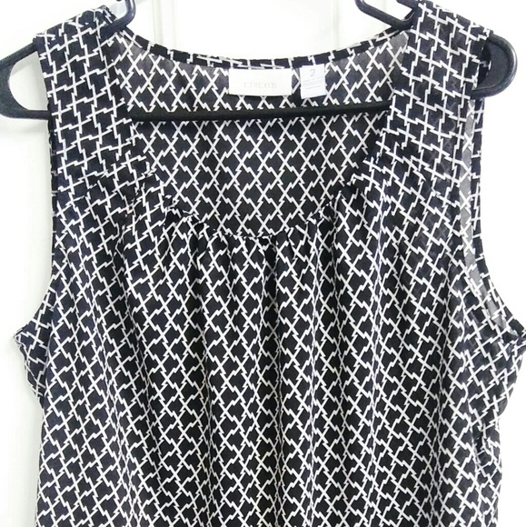 Chico's Tops - Black and White Sleeveless Chico's Shirt