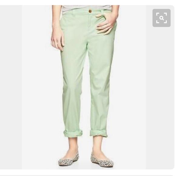 2383c5bbfd GAP Pants | Broken In Boyfriend Chinos Mint Size 6 | Poshmark