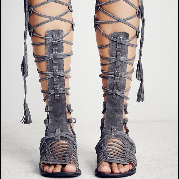 5b815d46ca2 free people Shoes - Free people sz36 6 Gray SunSeeker Gladiator Sandal